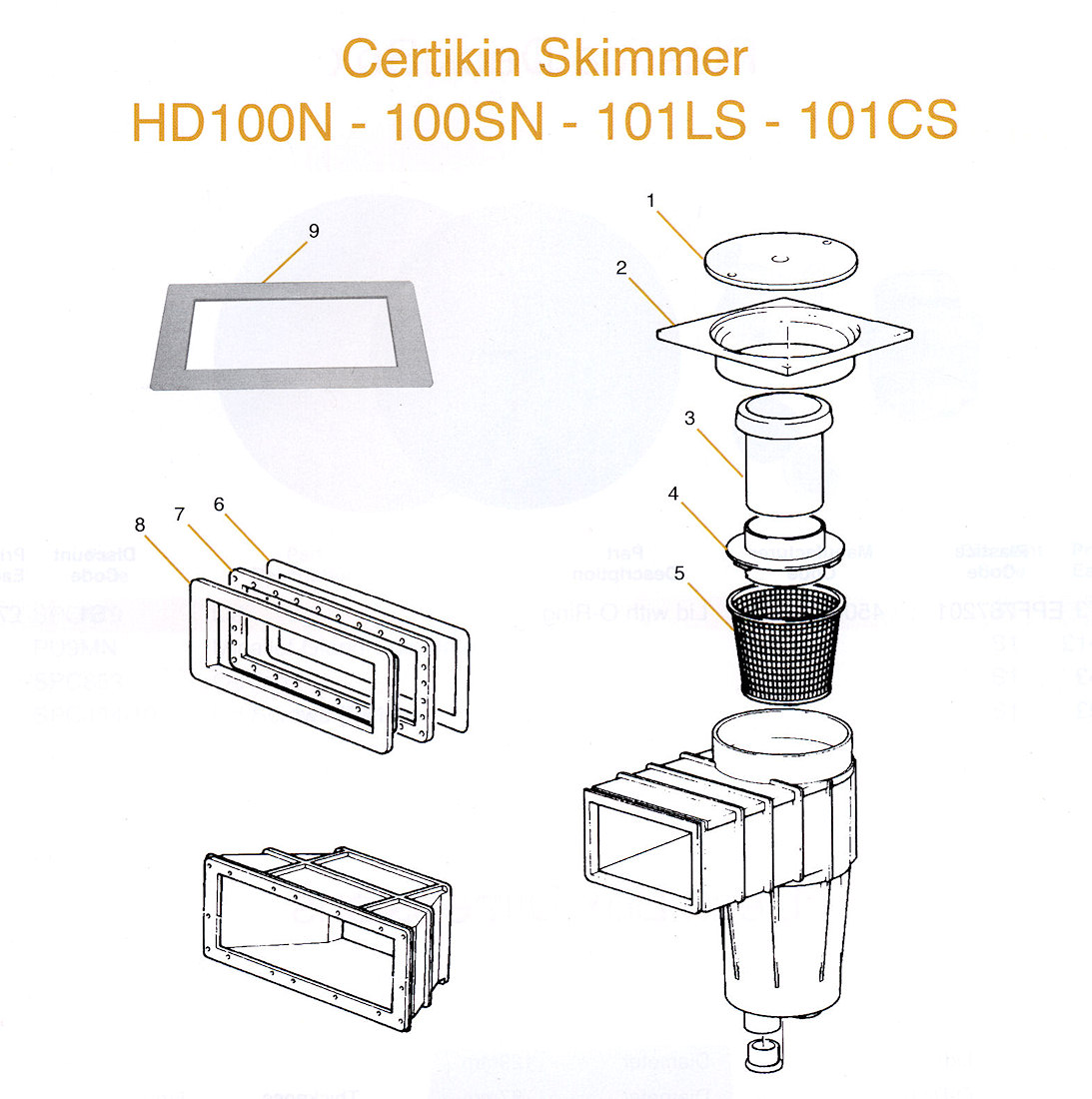 Certikin Skimmer Spares For Hot Tub And Spa Parts Accessories Packs Equipment Tap To Expand