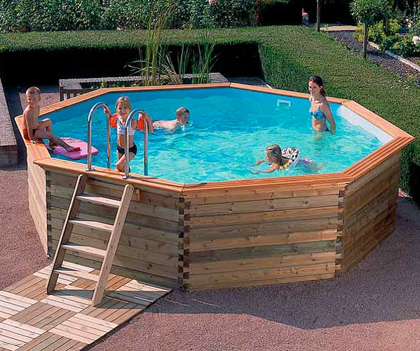 Gardipool wooden octoo above ground pools - Wood above ground pool ...